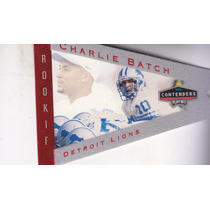 1998 Playoff Contenders Pennants Red Foil Felt Charlie Batch