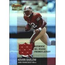 Kevan Barlow Tarj C Jersey Rc Bowmans Best 2001 49ers Rnt