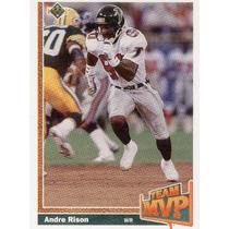 1991 Upper Deck Team Mvp Andre Rison Atlanta Falcons