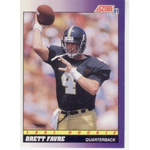 1991 Score Brett Favre Rc Atlanta Falcons