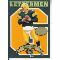 1997 Leaf Lettermen Felt Brett Favre Qb Packers 460/1000