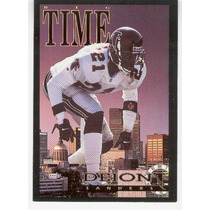1993 Skybox Premium Poster Cards Deion Sanders Falcons