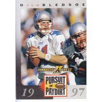 1997 Pinnacle Xpress Pursuit Drew Bledsoe Qb Patriots