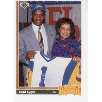 1991 Upper Deck Star Rookie Todd Lyght Los Angeles Rams Cb