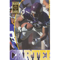 1995 Edge Black Label Cris Carter Wr Vikings