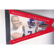 1998 Playoff Contenders Pennants Red Felt Randall Cunningham