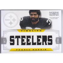 2012 National Treasures 8x Jersey Franco Harris Steelers /45