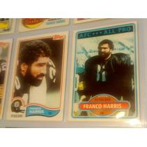 Franco Harris 2 Tarj Topps 1980 Y 1982 Steelers