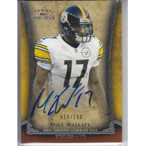 2011 Five Star Autografo Mike Wallace 14/190 Wr Steelers Sp