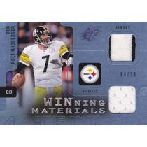 2009 Spx Wm 2x Jersey Ben Roethlisberger 04/50 Qb Steelers