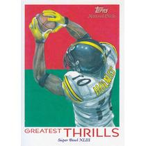 2009 Topps Chicle Greatest Thrills Santonio Holmes Steelers
