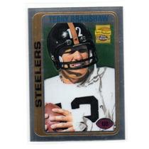 Terry Bradshaw Reprint Topps Chrome Steelers 2002 Rnt