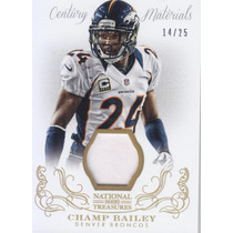 2013 National Treasures Gold Prime Jersey Champ Bailey /25