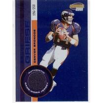 2001 Invincible Blue Jersey Brian Griese Denver Broncos /250