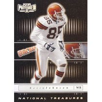 2001 Playoff Preferred National Silver Kevin Johnson Wr Brow