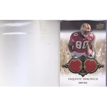 2008 Exquisite Coll Dual Patch Jerry Rice Wr 49ers /50