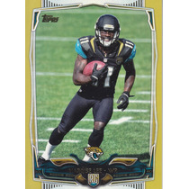 2014 Topps Gold Rookie Marqise Lee Wr Jaguars /2014