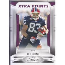 2009 Playoff Prestige Xp Purple Lee Evans Wr Bills /50