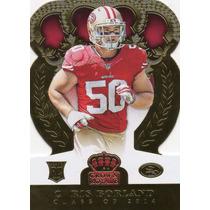 2014 Crown Royale Gold Die Cut Chris Borland Rc 49ers /99