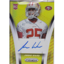 2014 Panini Prizm Gold Autografo Jimmie Ward Rc /100 49ers