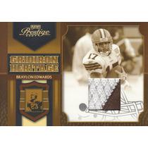2007 Prestige 2color Patch Braylon Edwards 33/50 Wr Browns