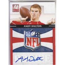 2011 Elite Rookie Nfl Shield Autografo Andy Dalton Bengals