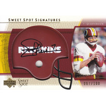 2004 Sweet Spot Autografo Joe Theismann 67/100 Hof Redskins