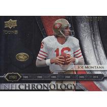 2008 Ud Icons Chronology Silver Joe Montana 49ers 485/750