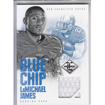 2012 Limited Blue Chip Jersey Rookie Lamichael James Rb /99