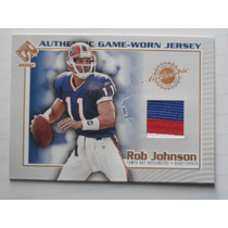 Rob Johnson Qb Tarj C 3 Colors Jsy Bills 2002