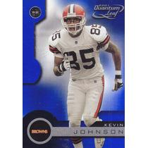 2001 Quantum Leaf Kevin Johnson Wr Browns