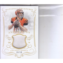 2014 National Treasures Jersey Andy Dalton Qb Bengals 10/10
