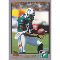 2001 Topps Rookie Chris Chambers Wr Dolphins
