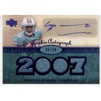 2007 Ud Premier 4x Jersey Autografo Lorenzo Booker Dolphins