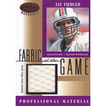 2001 Leaf Certified Jersey Jay Fiedler Qb Dolphins