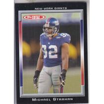 2006 Topps Total Black Michael Strahan Giants /50