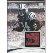 2012 Topps Prime Rookie Logo Ball Stephen Hill 5/10 Rb Jets