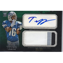 2011 Inception Jumbo Patch Autografo Titus Young Wr 50/50