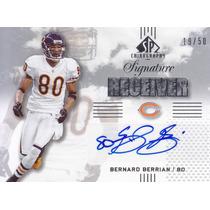 2007 Sp Silver Receiver Autografo Bernard Berrian Bears /50