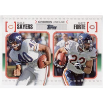 2010 Topps Gridiron Lineage Gale Sayers Matt Forte Bears