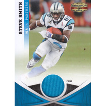2011 Gridiron Gear Prime Jersey Steve Smith Wr Panthers /50