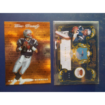 2 Tarj Inserts Crown/t Total Tom Brady $11dls Patriots Rn