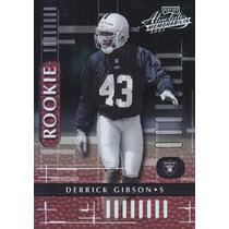 2001 Absolute Mem Rookie Derrick Gibson S Raiders /1750