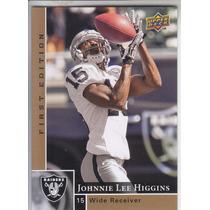2009 Ud First Edition Johnnie Lee Higgins Wr Raiders