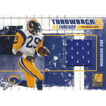 2003 Elite Throwback Threads Jersey Eric Dickerson /250 Rams