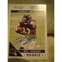 Torrey Smith Autografo Novato Ravens Score 2011 Nueva