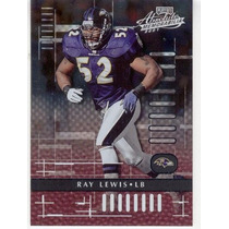 2001 Absolute Memorabilia Ray Lewis Baltimore Ravens