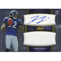 2011 Finest Jersey Rookie Autografo Torrey Smith Wr 246/589