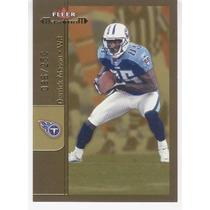 2002 Fleer Maximum Gold Derrick Mason Tennessee Titans /250