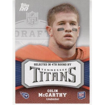 2011 Topps Rising Rookies Colin Mccarthy Rc Tennessee Titans